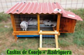 Jaula Para Conejo Con Madriguera (1m X50cmx50cm)