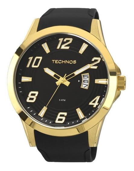 Relógio Technos Masculino Preto Analógico 2115kqa/8p Original