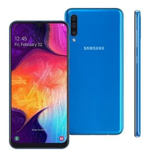Smartphone Samsung A50 A505g 64gb 4gb Ram 25mp Tela 6.4 Azul