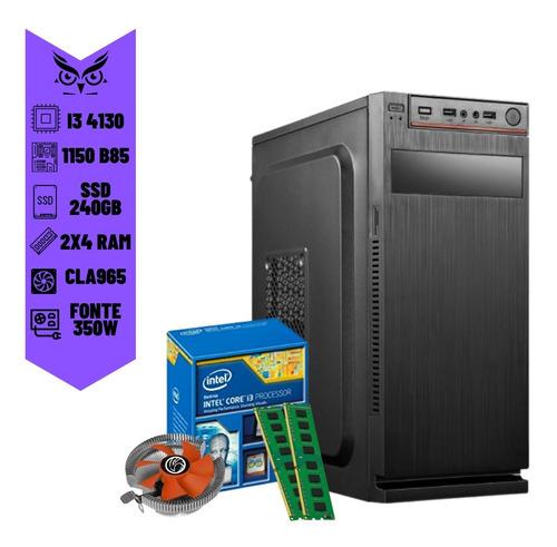 Imagem 1 de 6 de Computador Desktop Cpu Core I3 4ªgeração 8gb Ram Ssd 240gb