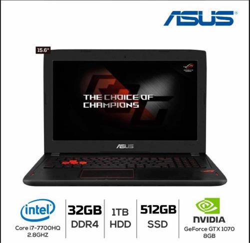 Asus Gl502vs I7 32gb Ddr4 512gb Ssd + 1tb Hdd Gtx1070 Gamer