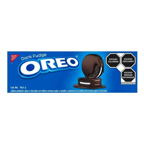 Imagen 1 de 1 de Galleta OREO Dark Fudge de chocolate y vainilla 166.4g