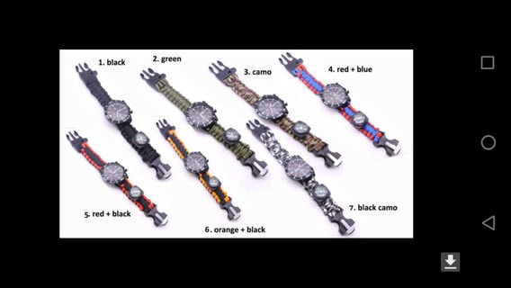 Reloj Tipo Militar De Supervivencia 7 En 1
