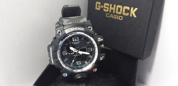 Relógio G-shock Mudmaster Robusto Pulseira Cinza Escuro Camu