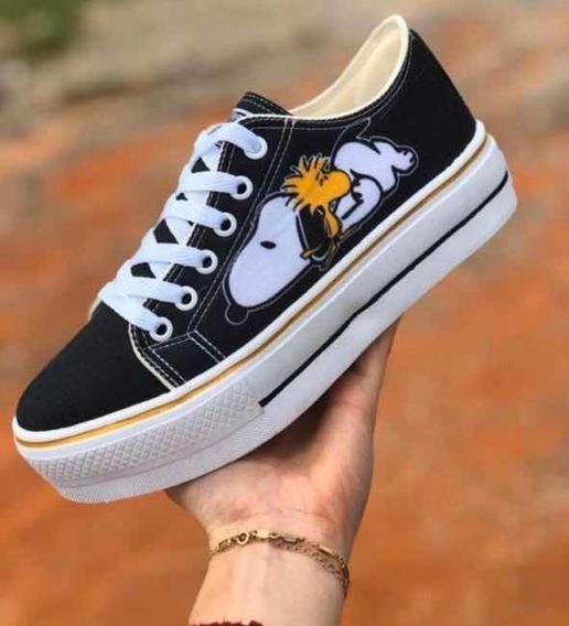 Tênis Plataforma Snoopy