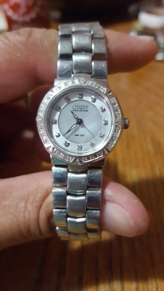Reloj Citizen Ecodrive Diamantes N-e031 P/reparar