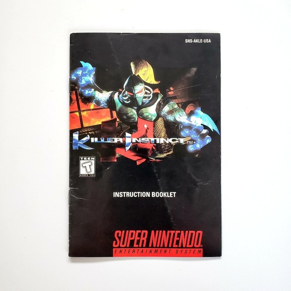 Manual Killer Instinct Original Snes