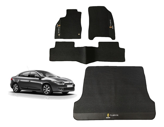 Kit Renault Fluence Tapetes Internos E Porta Malas Borracha