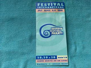 Ingresso Convite Folder Bourbon Festival Paraty 2010 Raro