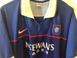 Camisa Glasgow Rangers 1998/99 Autografada Brian Laudrup