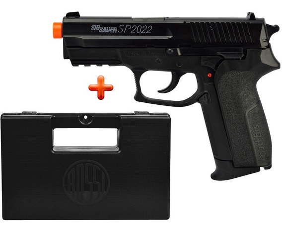 Pistola Airsoft Spring Sig Sauer Sp2022 + Capa Maleta Rossi