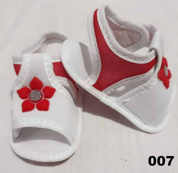 Sapatinho Sandalia Tenis Bebe Infantil Menina Cor Vermelha