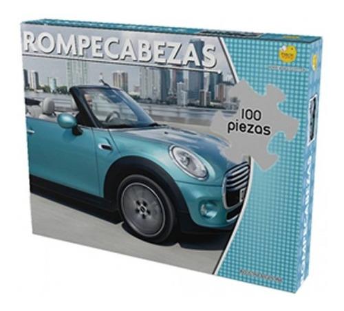 Rompecabezas 100 Piezas Mini Cooper Auto Puzle Y331 Juego De