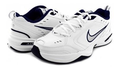 Tenis Nike 415445 102 White/metallic Silver-mid Navy Air Mon