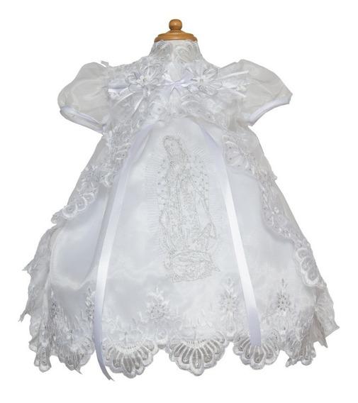 Ropon De Bautizo Virgen Guadalupe Vestido Gratis Envío