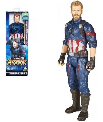 Capitan America Titan Hero Figura Avengers Original Mattel