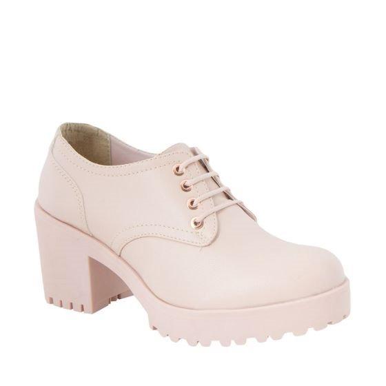 Zapatos 86179 Esti Bostoneanos Tacòn 8.5cm E Agujetas Rosa