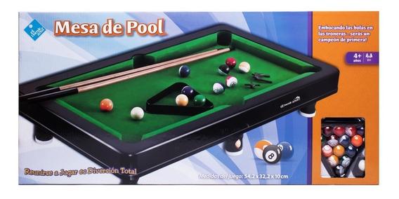 Juego Pool De Mesa 54 X 32 X 10 Cm El Duende Azul 7128