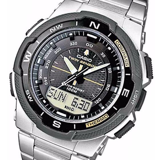 Relógio Casio Outgear Sgw-500hd-1bvdr Ana-digi Dois Sensores