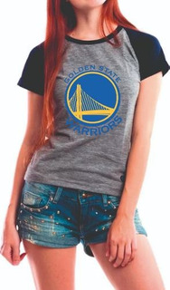 Camiseta Raglan Baby Look Golden State Warriors Camisa Gsw