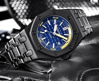 Reloj Benyar 5123 Na Deportivo Acero Fecha Con Caja