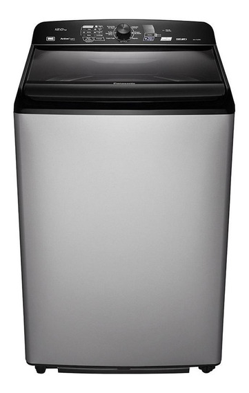 Lavadora de roupas automática Panasonic NA-F120B5G cinza/preta 12kg 110V