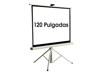 Pantalla Proyector Retractil Trípode Películas 120 Pulgadas