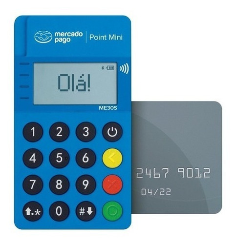 Imagem 1 de 3 de 20 Máquinas Cartão Point Mini Nfc + Adesivos Lote Revenda