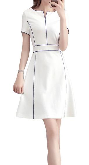 Vestido Corto Corte En A, Elegante Y Juvenil Ideal P