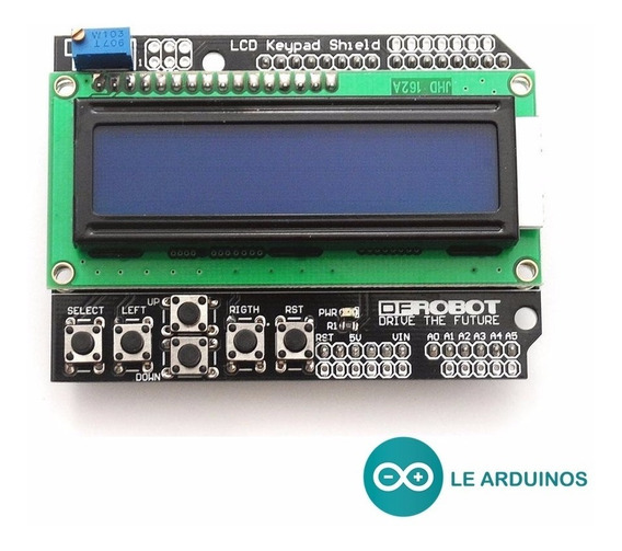 Display 16x2 Lcd Shield Com Teclado Arduino Uno