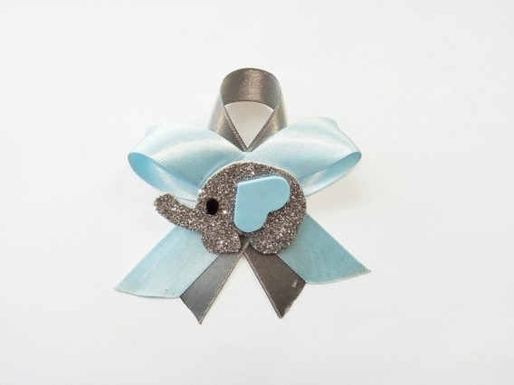 Paq 60 Distintivos De Elefantito Azul