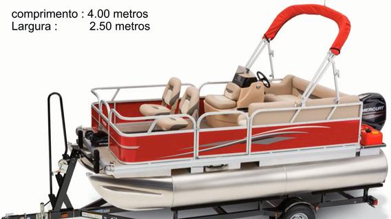 Catamarã De Aluminio Pontoon Pescaria Turismo Merg E Lazer