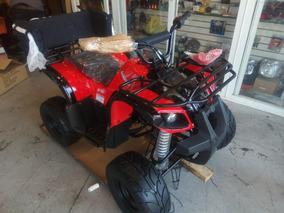 Cuatri 125cc Q7 Marca Avanzada C/reversa, Azul Y Rojo Nuevo