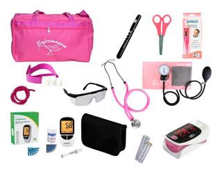 Kit De Enfermagem Super Luxo Com Medidor De Pressão Premium