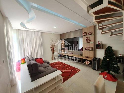 Casa Com 3 Dormitórios À Venda, 240 M² Por R$ 735.000 - Jardim Botânico - Ribeirão Preto/sp - Ca1802