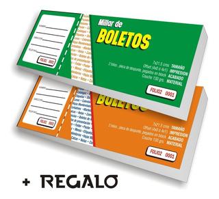 Mil Boletos Rifas A Color + Regalo