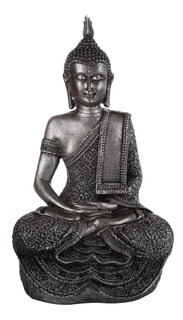 Figura De Buda Black Grey 34x20,5 Cm