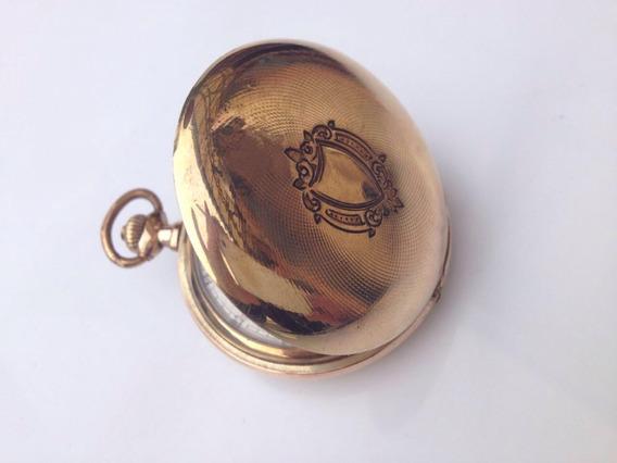 Relógio De Bolso Omega Caçador 3 Tampas Banhado.colecionador