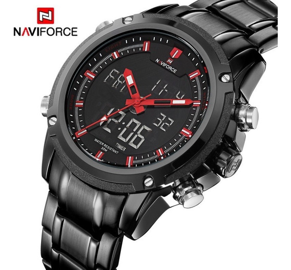 Relógio Masculino Naviforce Nf9050m Top De Luxo Quartzo