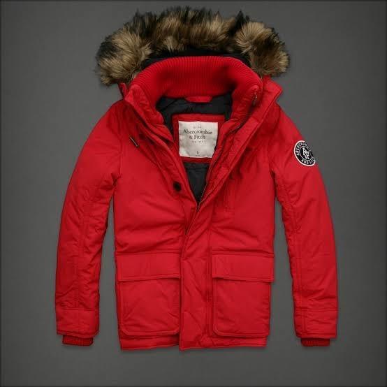 Parka Abercrombie&fitch, Color Rojo. Talla S.