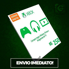 Microsoft Gift Card Cartão Xbox Br R$250 (100+100+50) Reais