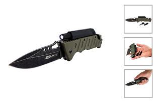 Canivete Faca Tática Militar Camping Com Lanterna Ntk