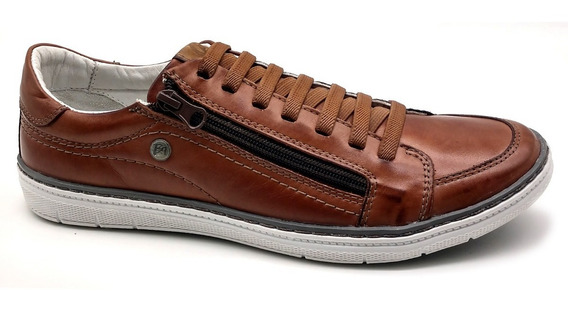 Sapato Sapatênis Masculino Casual Couro Bmbrasil608/05 Brown