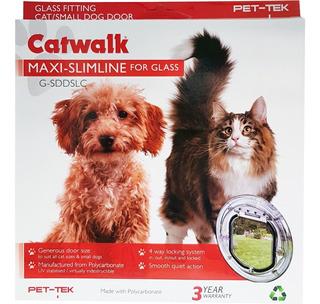 Puerta Gatos Perros Chicos Ventanal 18x19 Dogwalk Transp