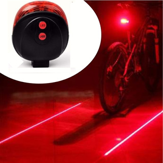 Lanterna Sinalizadora Luz Alerta Bike Bicicleta Guia Laser