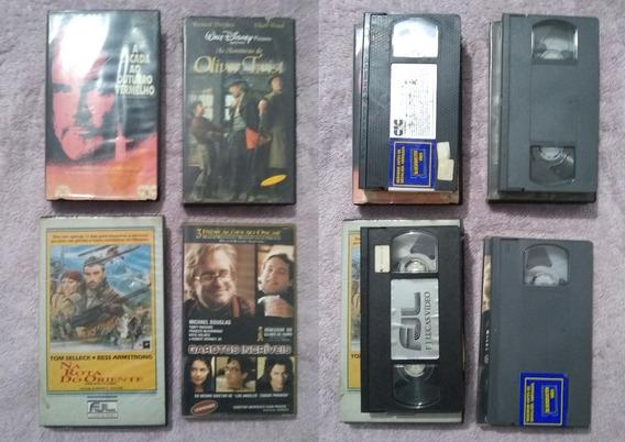 Lote Com 4 Filmes Em Vhs Aventura