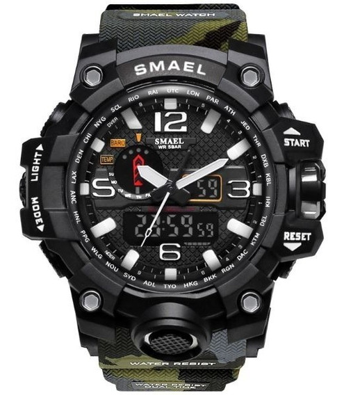 Relógio Masculino Sport Smael Led Digital Militar Prova Água