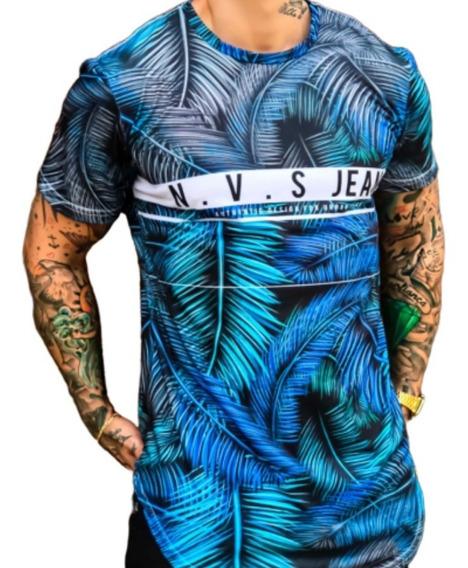 Kit C/10 Un Camisetas Long Line Oversized Masculino Atacado