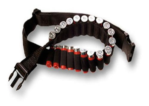 Bulldog Cinturón Porta Cartuchos Multical. 20 Unidades Negro