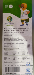 Ingresso Usado Final Copa América Para Colecionadores 100.00